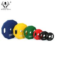 0.5kg-25kg Rubber Coated Fitness Weight Plates With High Density Customized Logo Manufactures
