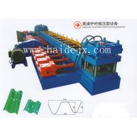PLC Control Hydraulic Anti Crash Barrier Highway Guardrail Roll Forming Machine With 18 Rows Of Rollers Manufactures