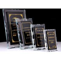 Buy cheap Durable Crystal Glass Golf Trophies Cup Black Color Matching CE CCC Certificated from wholesalers