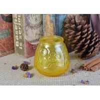 Custom Soda Lime Glass Candle Container For Home Decor , Yellow Manufactures