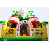Happy Culorful Commercial Inflatable Sports Games Rainbow Forest High Slide Manufactures