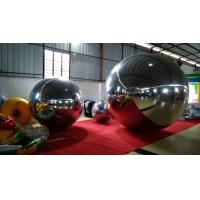 0.3MM PVC Inflatable Mirror  Silvery Ball Disco Mirror Ball / Advertising Mirror Ball For Event Manufactures