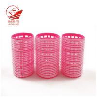 Professional Red Hook And Loop Hair Rollers / Sponge Hair Curler For Long Hair Manufactures