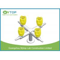Four Way Brass Laboratory Gas Taps / Chemical Gas Cock Valve Series Fittings Manufactures