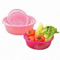 Plastic Fruit Baskets, Made of PP, FDA Certified, Customized Designs and Colors are Accepted Manufactures