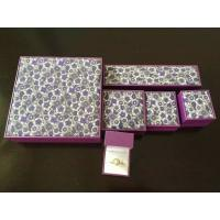 Buy cheap Classic Leatherette Earring Chain Jewellery Packaging Boxes With Gold Logo from wholesalers