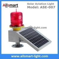 30 LED Flash Solar Powered Resident Building Aviation Light Obstruction Warning Lamp For Tower Crane 3-5 km Visibility Manufactures