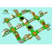Buy cheap Green Inflatable Water Obstacle Course For Adult / Aqua Park Play Equipment from wholesalers