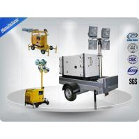 Air - Cooled Telescopic Light Tower / Manual Trailer Mounted Light Towers Manufactures