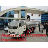 China cheapest price dongfeng 5,000L stainless steel milk tank for sale, food grade liquid good transported truck Manufactures