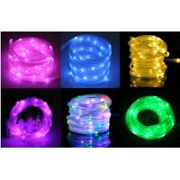 Quality PVC Tube Outdoor Solar LED String Lights 5M 10M Holiday Fairy Lights for sale