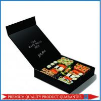 Matt Black Color Printed Both Sides Paper Food Box Sushi Package Chipboard Manufactures