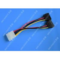 IDE Flat Cable Harness Assembly 4 Pin to 2 x 15 Pin SATA To Serial ATA SATA Connector Manufactures