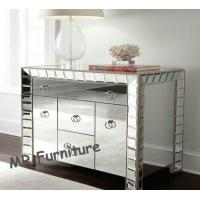 Sophia Design Mirror Furniture Set 3 Drawers Glass Mirror Dresser Table Manufactures