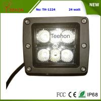 24 Watt Square LED Working Light for 4WD Vehicle and Heavy-Duty Truck Manufactures