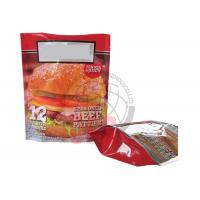 Custom Hamburger Stand Up Zipper Pouch 3 Side Seal , Water Proof Manufactures