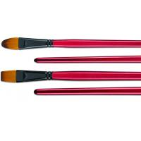 Filbert / Flat High End Artist Painting Brushes With Black Copper - Plated Ferrule Manufactures