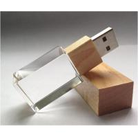 Quality 2G - 64GB Crystal USB Flash Drive 2.0 Memory Stick Customized Logo for sale