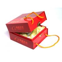 Quality OEM Rigid Red Corrugated Box Printing Service with mounting cloth + sponge fixing for gift for sale