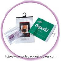 Transparent Poly Bags With Hangers For Briefs , Knickers , Underwear Manufactures