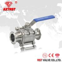 Full Port 3PC Stainless Steel Ball Valve With Clamp ends 1000WOG floating ball valve Manufactures