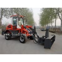 China Compact wheel loader ZL12F with snow blower on sale