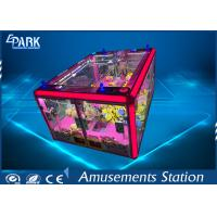 Big Glass Box Crane Game Machine Coin Operated Pink Princess Stereo Sound System Manufactures