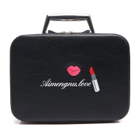 Lightweight L25*D11.5*H18.5CM PU Cosmetic Case With Metal handle Manufactures