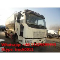 Quality hot sale FAW  LHD 180hp 20m3  poultry feed pellet truck, factory direct sale FAW  8tons-12tons bulk feed truck for sale