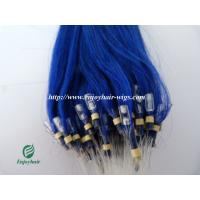 """Micro ring loop hair extensions 16""""-26""""L Malaysian remy hair blue# color hair Manufactures"""