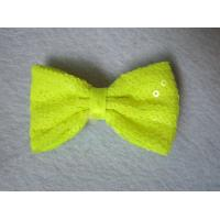 Cute Yellow Sequin Fabric Hair Clips Crocodile Clip Pretty Bobby Pin Eco Friendly Manufactures
