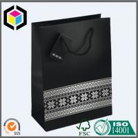 Quality Luxury Matte Black Color Paper Bag; Ribbon Handle Gift Paper Packaging Bag for sale