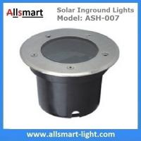 Φ120x90mm Round Solar Paver Lights Solar Underground Lights Solar In-ground Lights IP68 for Landscaping Plaza Square Manufactures