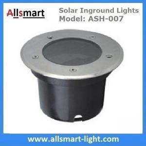 Φ120x90mm Round Solar Paver Lights Solar Underground Lights Solar In-ground Lights IP68 for Landscaping Plaza Square Manufactures