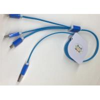Quality Multifunction 3 In 1 USB Retractable Charging Cable 3ft Type C For Mobile Phone for sale
