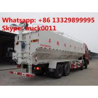 hot sale dongfeng brand 20tons electronic system discharging bulk feed truck, CLW brand 270hp 40m3 poultry feed truck
