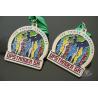 Matt Silver Plating Custom Sports Medals / Upstander 5K Medal Manufactures