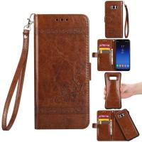 Oil Wax Leather 2 In 1 Wallet Case For Samsung S8 Plus Scratch Resistant Manufactures