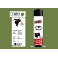 Fridge Green Color Marking Spray Paint , Animal Marking Paint Good Adhesiveness For Pig Manufactures