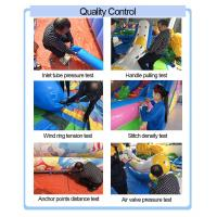Outdoor Sports theme inflatable air tunnel obstacle course combo