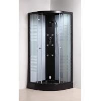 Quality Matt Black Convenient Quadrant Shower Cubicles For Star Rated Hotels / for sale