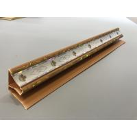Quality Top Cornice PVC Extrusion Profiles Applique Brown Color Long Service Life for sale