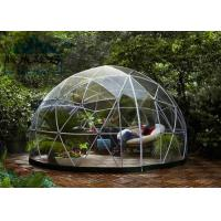 Light Frame Steel Structure Portable Dome Tent , Dome Shaped Tent 10M/20M/30M Manufactures