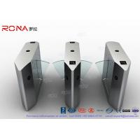 Electric 316 SS Security Flap Barrier Gate Turnstile Gate With IR Sensor 13.56mhz Card Reader Manufactures