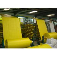 Woven Polypropylene Cloth Roll , Yellow Offset Print Woven PP Fabric UV Treated Manufactures