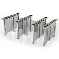 Card Access Speed Gates With Servo Driver / Half Height Turnstile Entrance Gates Manufactures
