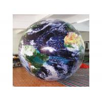 Indoor Helium Filling Earth Globe Balloons Inflatable Exhibition Spheres Manufactures