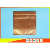 Plastic Zipper Coffee Packaging Bags , Three Layer Laminated Aluminium Bag For Tea Manufactures