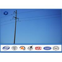 25FT 30FT 35FT 40FT Octagonal utility power pole , steel power pole 500KGS Design Load Manufactures