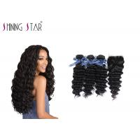 Deep Curly Unprocessed Remy Hair Extensions Weave For Black Woman 350g Manufactures